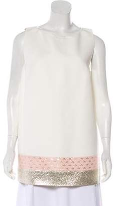 Giambattista Valli Colorblock Sleeveless Top w/ Tags