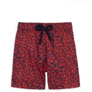 Vilebrequin Little Boy's& Boy's Mini Fishes Swim Trunks - Navy - Size 6