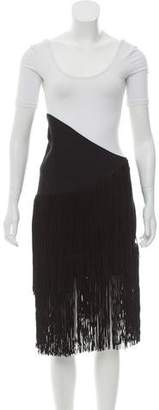 Jay Ahr Fringe-Accented Mini Skirt w/ Tags