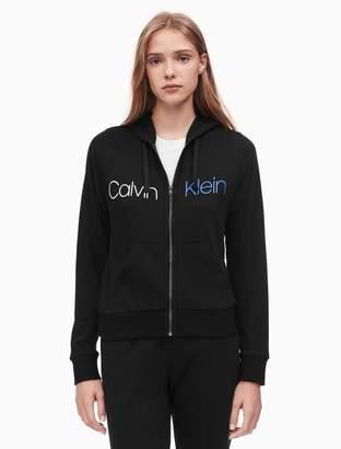 Calvin Klein bold accents full zip hoodie