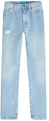 MiH Jeans Cult Distressed Cropped Jeans