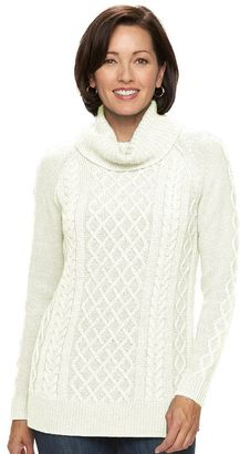 Women's Croft & Barrow® Cable-Knit Cowlneck Sweater $50 thestylecure.com