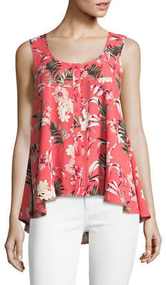 Style&Co. STYLE & CO. Tropical Flower Sleeveless Top
