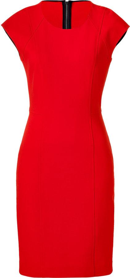 DKNY Cherry Cap Sleeve Sheath Dress