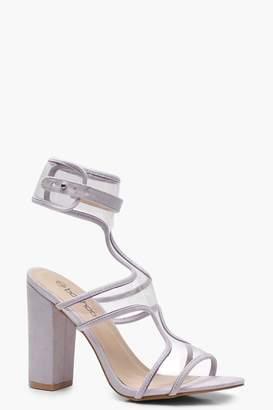 boohoo Clear Strap Sandals