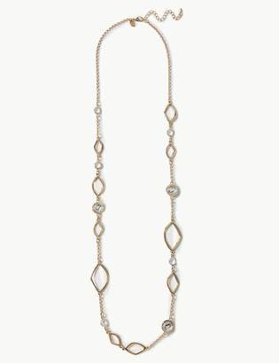 Marks and Spencer Gold Plated Diamond Shapes Necklace