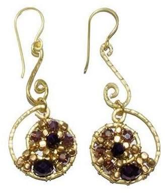 Ananda Brass Wired Earrings