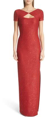 St. John Sequin Column Gown
