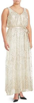 Isaac Mizrahi Women's Sequined Sleeveless Gown