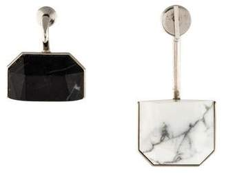 Christian Dior Howlite & Marble Mismatched Earrings