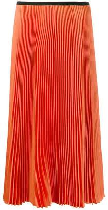 8c8bade425 Orange Pleated Midi Skirt - ShopStyle UK