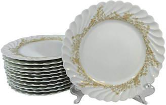 One Kings Lane Vintage Haviland Limoges Salad Plates - Set of 12 - Stucco Mansion Antiques