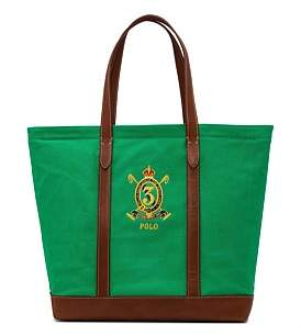 Polo Ralph Lauren Embroidered Crest Tote