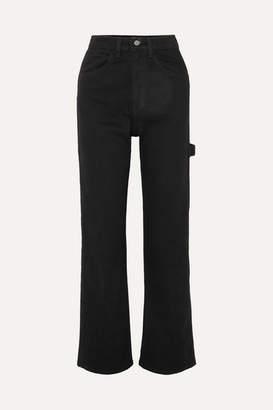 Eve Denim Carolyn High-rise Straight-leg Jeans - Black