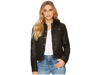 Levi's Faux Leather Buff Cow Jacket