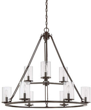 August Grove Petersburg 9-Light Candle-Style Chandelier
