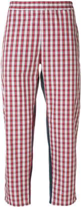 Gosha Rubchinskiy checked cropped trousers