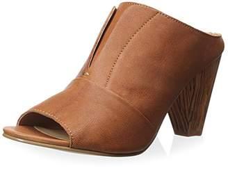 J Shoes Women's Betsy Wood Block Heel Open-Toe Slide/Mule