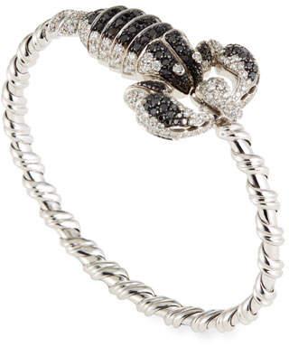 Roberto Coin 18k Gold Black Diamond Scorpion Bangle Bracelet