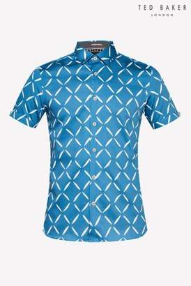Next Mens Ted Baker Luvbox Printed Short Sleeve Shirt