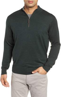 Peter Millar Crown Soft Wool Blend Quarter Zip Sweater
