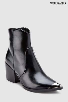 Next Womens Steve Madden Black Preston Western Ankle Boot
