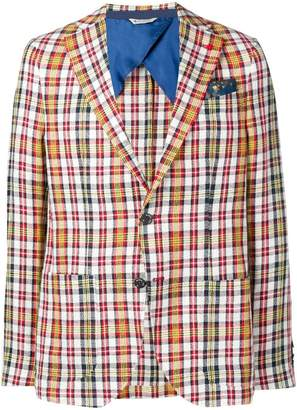 Manuel Ritz plaid blazer