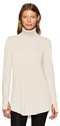 Halston Women's Long Sleeve Cowl Back Tunic Sweater