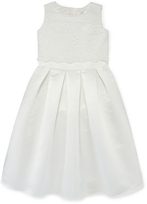 LAVENDER BY US ANGELS Lavender by Us Lace and Satin Flower Girl Dress - Preschool Girls 4-6x $70 thestylecure.com