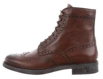 Santoni Coleman Wingtip Ankle Boots w/ Tags