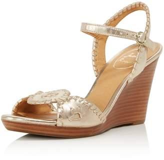 Jack Rogers Women's Clare Leather Platform Wedge Sandals