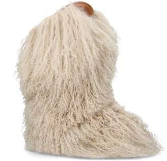 Saint Laurent Fur Calf Boots 40
