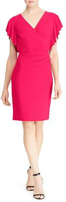 Lauren Ralph Lauren Petites Flutter-Sleeve Dress