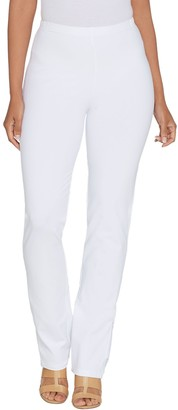 Women With Control Women with Control Petite Convertible Pants w/ Zipper Detail