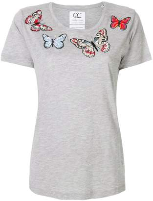 Quantum Courage embroidered butterfly T-shirt