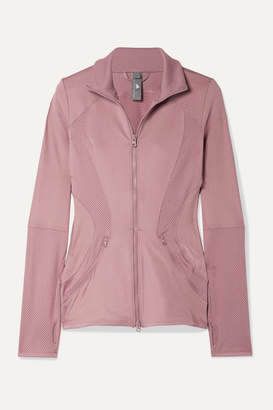 adidas by Stella McCartney Essentials Mesh-paneled Climalite Jacket - Blush