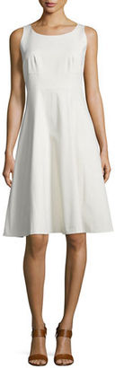 Lafayette 148 New York Angelee Sleeveless Fit & Flare Dress $548 thestylecure.com