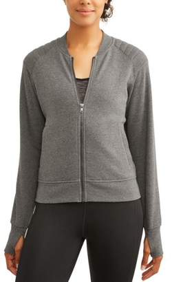 Athletic Works Women's Core Active Fleece Bomber Jacket
