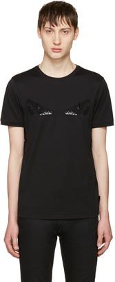 Fendi Black Sequin 'Bag Bug' T-Shirt $600 thestylecure.com