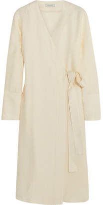 Protagonist Satin-jacquard Wrap Dress - Ivory