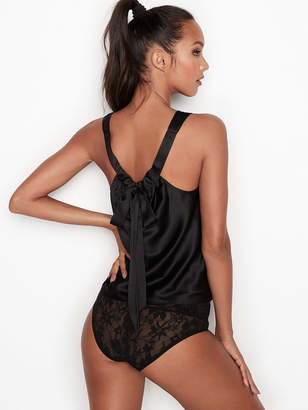 Victoria's Secret Victorias Secret Satin Bow-back Tank