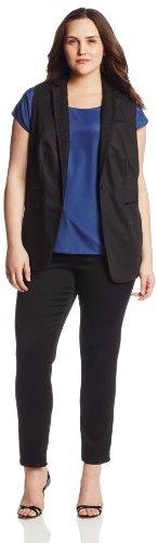 Calvin Klein Women's Plus-Size Mesh-Lapel Vest