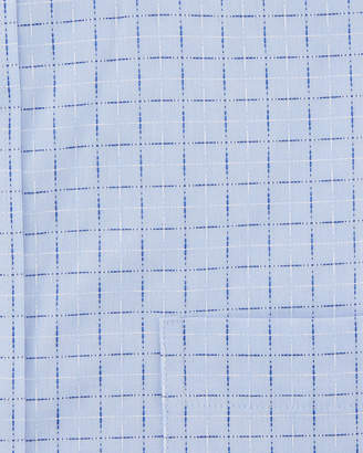 Neiman Marcus Classic-Fit Regular-Finish Check Dobby Dress Shirt, Blue