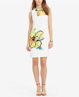 Lauren Ralph Lauren Floral-Print Sheath Dress $160 thestylecure.com