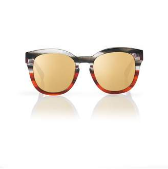 Blanc Eclare Nice Ruby Steel With Gold Mirror Lens