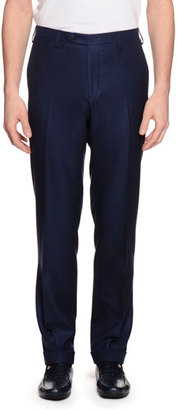 Stefano Ricci Cashmere Flat-Front Dress Pants, Navy $1,825 thestylecure.com