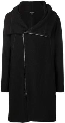 Emporio Armani asymmetric zipped coat