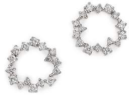 Adina 14K Yellow Gold Scattered Diamond Circle Earrings