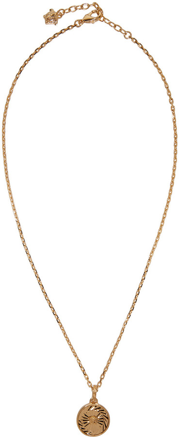Versace Gold Small Medusa Necklace
