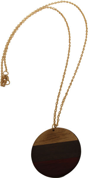 Necklace with Wooden Plate